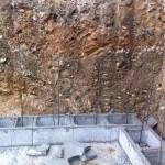 Založení opěrné zdi