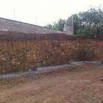 První řada opěrné zdi